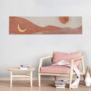 Boho Abstract Art Moon and Sun Tapestry Minimalist